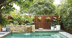 landscape design swimming pool garden landscaping ideas for small backyard pictures designs at the in large.landscape design swimming pool garden furniture glamorous designs with… Backyard Pool Designs, Small Backyard Gardens, Swimming Pools Backyard, Small Backyard Landscaping, Swimming Pool Designs, Landscaping Ideas, Landscaping Software, Small Backyards, Small Swimming Pools