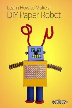 Le grand livre des diy pour enfants loisirs cratifskids put together your own 3d paper robot this lesson provides the blueprint and instructions for malvernweather Choice Image