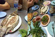 Gegrillter Fisch und jede Menge Kräuter: Streetfood-Himmel rund um das Victory Monument in Bangkok, Thailand