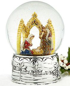Reed & Barton Reed & Barton Snow Globe, Oh Holy Night Cathedral Nativity on shopstyle.com