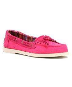 Fuchsia Gypsy Boat Shoe - Women