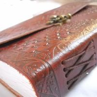 Leather Journal Brass Lock 7.5 by 5.5  inches