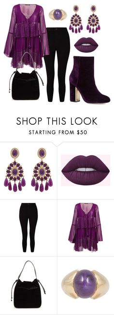 """""""boheme purple"""" by binna81 on Polyvore featuring Kenneth Jay Lane, Miss Selfridge, Roberto Cavalli and French Connection"""
