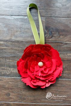 christmas ornament paper flower by balushka on Etsy