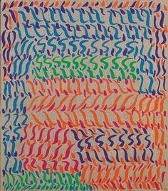 Carla Accardi, Segni misti, 1984 - Vinyl on canvas, 80 x 70 cm.
