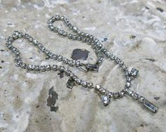 Vintage Rhinestone Chain Link Necklace ... by GypsyFeather