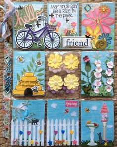 Pocket Letter #11...Garden/Spring Theme. This is my 2nd PL for Brenda in Santee, CA. It was time consuming with all the tiny pieces but it was really fun to make. I'm so ready for spring! April 8, 2016