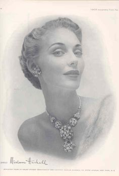 Miriam Haskell -1949 beautiful #vintage #jewelry ad