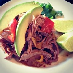 Paleo Mexican Pulled Pork with Onions and Peppers from paleocupboard.com