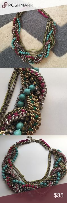 Gorgeous statement necklace Beautiful Stella and Dot statement necklace. In excellent condition. GORGEOUS detail!! Can wear casual or dressed up. Such a unique find. Stella & Dot Jewelry Necklaces