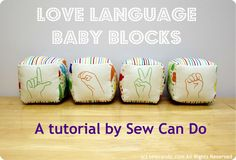 Baby blocks tutorial featuring American Sign Language & Braille letters by sewcando.com