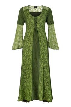3987fa4ae73680 Long medieval style dress with bell sleeves. Wicked Dragon Clothing - Lace  ...