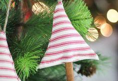 DIY Cinnamon Scented Fabric Tree Ornaments