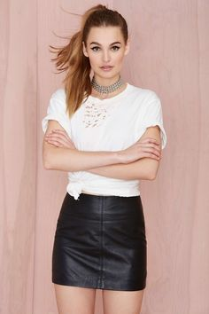 Nasty Gal Leather - The Turner Mini Skirt