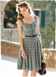 Dolce Vita Sundress - want to make a dress like this out of men's plaid buttonups