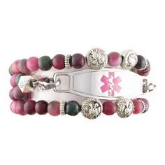 Gorgeous!!  ROYALTY STRETCH BEADED MEDICAL ALERT BRACELETS