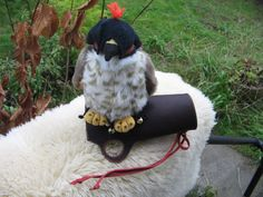 Toy Falcon w/Leather Glove by cattoy4 on Etsy
