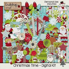 Christmas Time  Digital Scrapbooking Kit