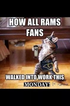 The Monday morning after the big win over the Denver Broncos. 22-7