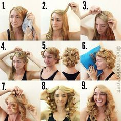 Top 10 DIY No Heat Curls - I don't think my hair would do this...