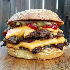 Classic Double Cheeseburger wherein the Meat & Cheese are the boss