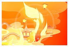 《锦鲤跃新春》希望新的一年,每个人都能成为锦鲤本鲤 - 原创作品 - 站酷(ZCOOL) Abstract, Artwork, Work Of Art