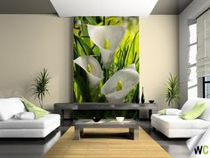 A wall mural of Lilys