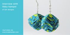 Paper - octal earrings by ljlh designs / featured on discoverpaper.com