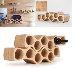 Birch Plywood wine rack