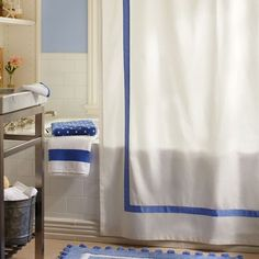 Suite Ribbon Shower Curtain | PBteen