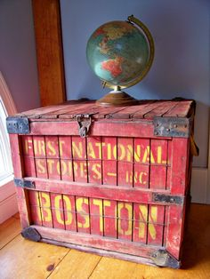 Old First National Stores Shipping Crate by SundriesandSalvage