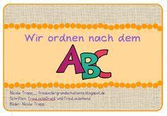 Kartei - ABC ordnen 2. Klasse