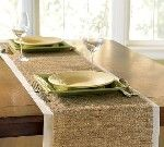I like these burlap table runners,... too much?