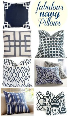 navy pillow finds {study update} Fabulous navy pillow finds {study update}Study Study or studies may refer to: Navy Living Rooms, New Living Room, Home And Living, Living Room Decor, Bedroom Decor, Blue And White Pillows, Navy Pillows, Owl Pillows, Burlap Pillows
