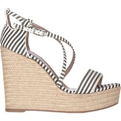 Tabitha Simmons Women's Jenny Wedge Espadrilles ($199) ❤ liked on Polyvore featuring shoes, sandals, wedges, multi, wedge heel sandals, espadrille sandals, wedge sandals, leather platform sandals and espadrille wedge sandals