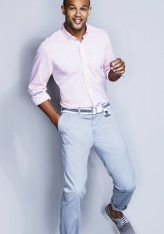 He doesn't have to wait for Spring to bust out the pastels, Nautica's got him covered