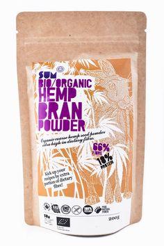 SUM Hemp Bran Powder Organic 200 g / SUM Konopné otruby BIO 200 g