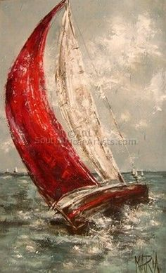Art Painting by Maria Magdalena Oosthuizen includes Seilboot, this example of Contemporary Art has inspired this exceptionally talented artist. View other Paintings by Maria Magdalena Oosthuizen in our Online Art Gallery. Sailboat Art, Sailboat Painting, Sailboats, Encaustic Art, Online Art Gallery, Love Art, Painting Inspiration, Watercolor Paintings, Illustration Art
