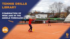 Top tennis drills: Forehand wide - Forehand in the middle combo Tennis Videos, The Middle, Drills, Improve Yourself, Basketball Court, Free, Tennis, Drill