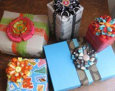CUTE ribbon bows!! for creative gift wrap, headbands, or hair clips!