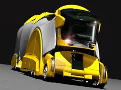 Futuristic Vehicle, The Chameleon Truck Concept by Haishan Deng