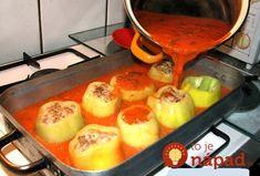 Najlepšia plnená paprika akú poznám. Namiesto varenia ju skúste prirpaviť v rúre, je to fantastická zmena, ktorá zachutí celej rodine. Griddle Pan, Kitchen, Grill Pan, Cuisine, Home Kitchens, Kitchens, Cucina