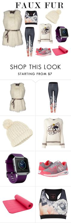 """Faux Fur"" by atenaide86 ❤ liked on Polyvore featuring GUESS, Ted Baker, Accessorize, Woolrich, Fitbit and New Balance"