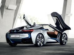 At the 2012 Beijing Auto Show, German luxury car maker BMW will showcase a glimpse of the future in the form of the Spyder convertible supercar. The droptop Spyder supercar will be showcased … Luxury Sports Cars, Cool Sports Cars, Cool Cars, Bmw I8, Porsche, Audi, Lamborghini, Ferrari, Bmw Sport