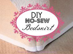 DIY No-Sew Bedskirt