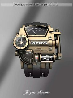 Steampunk concept design watch