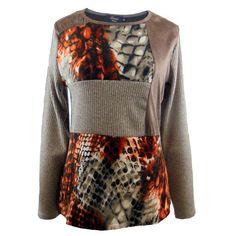 Camiseta patchwork mujer