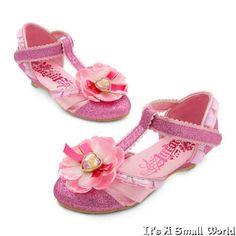 Disney Store Princesa Ariel Aurora Belle Rapunzel Dress Up Traje Zapatos Nuevo Con Etiquetas
