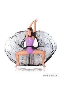 Black, Purple sequin dance costume lyrical dress