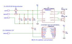 Arduino esp-Radio Schaltplan. Anschluss des ESP8266 WeMos D1 Moduls ...